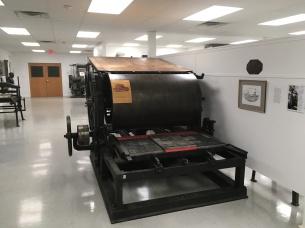 19th century newspaper printing machine