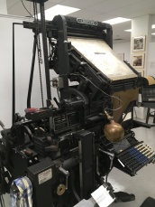 Linotype, an old typing device for newspapers