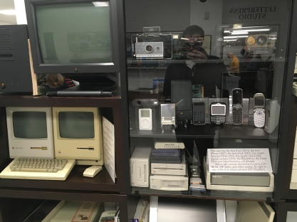 Various Apple Macintosh products, Polaroid cameras, flip phones, and many more!